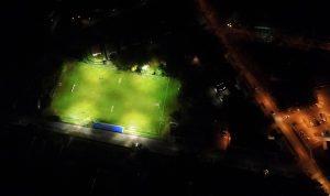 Sülysáp focipálya éjszakai kivilágítás Sülysáp SE labadarúgó csapat edzés