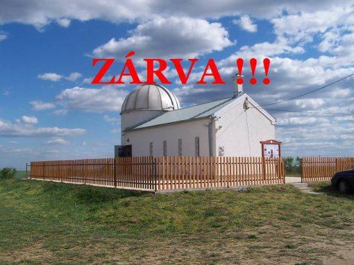 Tápiómenti Bemutató Csillagvizsgáló bezár