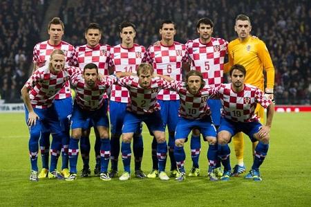 csapatfotó: Horvátország
