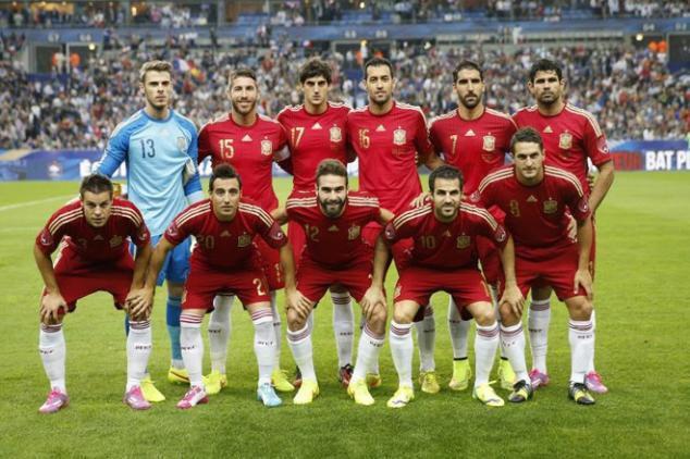 csapatfotó: Spanyolország